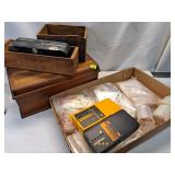 Assorted Boxes, Baggies, Stud Sensor