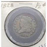 1828 Half Cent 13 Stars