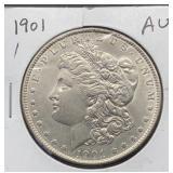 1901 AU Morgan Silver Dollar