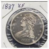 1837 XF Capped Bust Half Dollar
