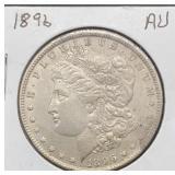 1896 AU Morgan Silver Dollar