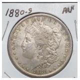 1880 S AU Morgan Silver Dollar