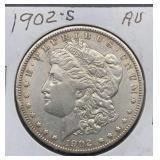 1902 S AU Morgan Silver Dollar