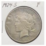 1924 S F Peace Silver Dollar