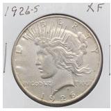 1926 S XF Peace Silver Dollar