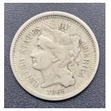 1863 Three Cent Nickel