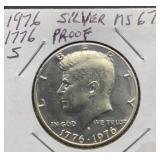 1776-1976 S Silver Proof MS67 Kennedy Half Dollar