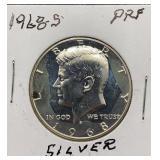 1968 S PRF Silver Kennedy Half Dollar
