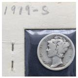 1919 S Mercury Silver Dime