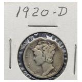 1920 D Mercury Silver Dime