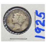 1925 Mercury Silver Dime