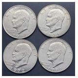 4 - 1972 D Eisenhower Dollars