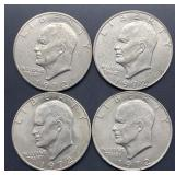 4 - 1972 Eisenhower Dollars