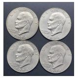 4 - 1974 Eisenhower Dollars