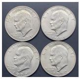 4 Eisenhower Dollars