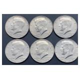 6 - 1776-1976 D Kennedy Half Dollars