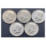 5 - 1776-1976 D Kennedy Half Dollars