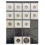 11 Mercury Silver Dimes & 4 Roosevelt Dimes
