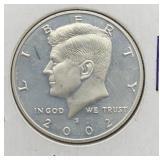 2002 S Silver Kennedy Half Dollar