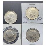 3 - 1971D & 1 - 1971S Kennedy Half Dollars