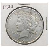 1922 Peace Silver Dollar