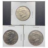 3 Kennedy Half Dollars