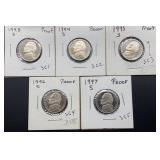 5 Jefferson Proof Nickels