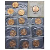8 - 1963, 5 - 1964 Lincoln Cents