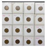 16 Wheat Pennies