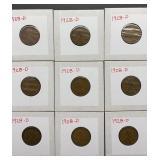 9 - 1928D Wheat Pennies