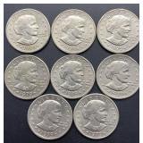 8 - 1979 P Susan B Anthony Dollars