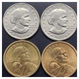 4 Dollar Coins