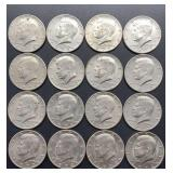 16 - 1972 D Kennedy Half Dollars