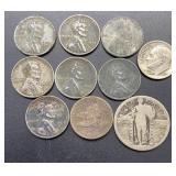 10 Coins Various Denominations