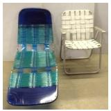 Patio Lounge Chair & Fold up Chair