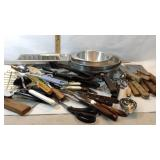 Ice Trays, Pans, Utensils, Knives, Bowl