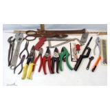 Box of Tools & Pruning Shears