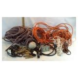 Extension Cords, Rope, Clothespins & Soft Ball