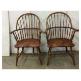 Matching Wooden Captains Chairs