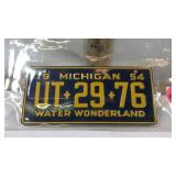 1954 Michigan Mini Water Wonderland Plate
