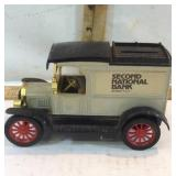 Vintage Second National Bank Car Bank