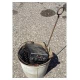 Bucket with Miscellaneous Tools and Radios