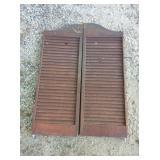 Wooden Shutter Style Doors