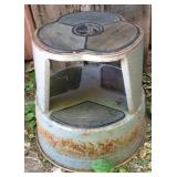 Vintage Steel Kick Step Stool