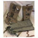 WWII 1943 Military Issued Gaiters