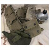 WWII Canteen Set & Canvas Lot