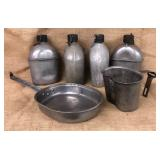 Military Issued Canteens & Cooking Pots