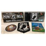 POW * MIA License Plates & Patches