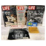 Life Magazines & Vietnam Flag