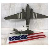 Military Model Airplanes & USA Flag